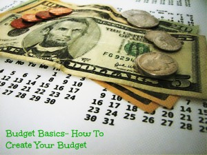 how to create your budget