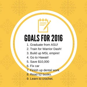 2016 goals graphic